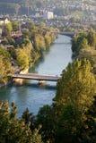 Río Aar; Berna Foto de archivo libre de regalías