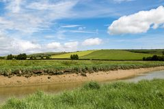 Río Adur, Sussex del oeste Foto de archivo