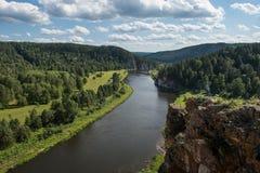 Río Agidel Fotos de archivo