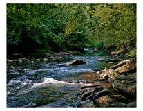 Río ahumado de las montañas Imagen de archivo