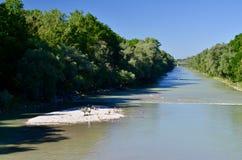 Río AIA de Munchen Imagenes de archivo