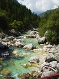 Río alpestre foto de archivo