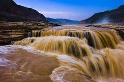 Río amarillo Imagen de archivo