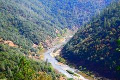 Río americano North Fork, sequía de California fotos de archivo libres de regalías