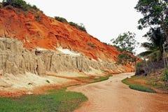 Río anaranjado en Vietnam Imágenes de archivo libres de regalías