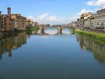 Río Arno Ponte Vecchio Fotos de archivo
