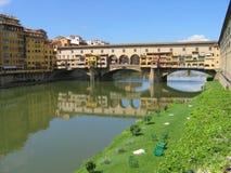 Río Arno Ponte Vecchio Imagen de archivo libre de regalías