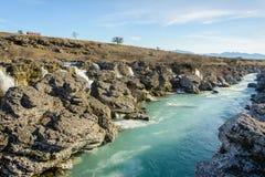 Río azul Fotos de archivo
