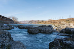 Río azul Foto de archivo