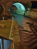 Río bajo el puente Imagen de archivo libre de regalías
