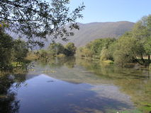 Río Bosna Imagen de archivo libre de regalías