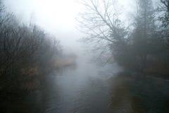 Río brumoso Fotos de archivo libres de regalías