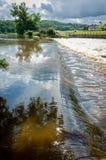 Río Calder en Lancashire, Inglaterra Fotos de archivo