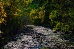 Río cambiante imagenes de archivo
