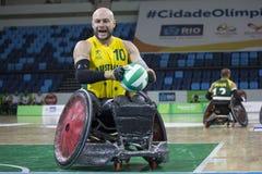Río 2016 - campeonato internacional del rugbi de la silla de ruedas Fotos de archivo libres de regalías