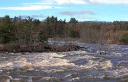 Río cerca de la concordia, New Hampshire de Merrimack foto de archivo libre de regalías