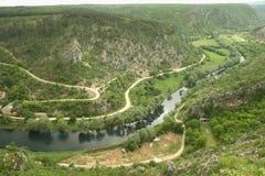 Río Cetina en Croatia foto de archivo libre de regalías