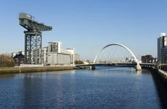 Río Clyde en Glasgow Imágenes de archivo libres de regalías