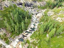Río con la cascada Fotografía de archivo