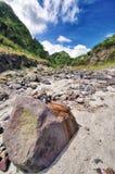 Río con Lahar Imágenes de archivo libres de regalías