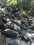 Río con las rocas en alguna parte en México Imagen de archivo libre de regalías