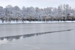 Río congelado Imágenes de archivo libres de regalías