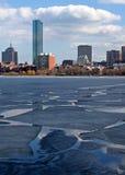 Río congelado Imagen de archivo libre de regalías