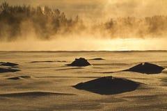 Río congelado fotos de archivo