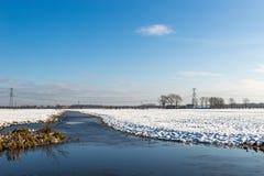 Río congelado Imagenes de archivo