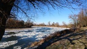 Río congelado Fotografía de archivo