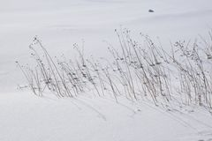 Río congelado campo de nieve delantero de V Humber Imagen de archivo