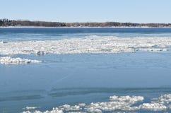 Río congelado de StLawrence Foto de archivo libre de regalías