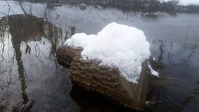 Río congelado en Ucrania Imágenes de archivo libres de regalías