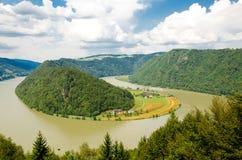 Río Danubio, Austria Fotografía de archivo libre de regalías