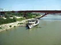Río Danubio en Serbia foto de archivo libre de regalías