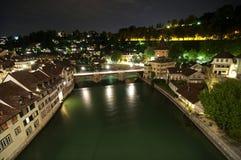 Río de Aare, Berna Foto de archivo