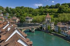 Río de Aare, Berna Fotos de archivo libres de regalías