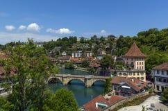 Río de Aare, Berna Foto de archivo libre de regalías