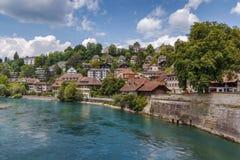 Río de Aare, Berna Imagen de archivo