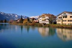 Río de Aare de Interlaken Foto de archivo libre de regalías
