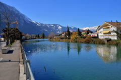 Río de Aare de Interlaken Fotos de archivo libres de regalías