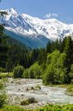 Río de Alpin Foto de archivo libre de regalías