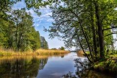 Río de Alster en Karlstad Suecia Foto de archivo libre de regalías