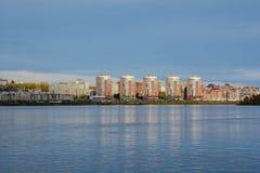 Río de Angara en Irkutsk Fotografía de archivo