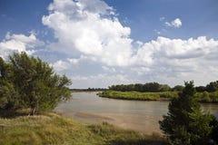Río de Arkansas Fotografía de archivo libre de regalías