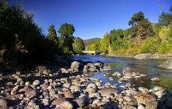 Río de Arkansas escénico en Colorado Imagen de archivo libre de regalías