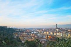 Río de Arno en Florencia, Italia Imágenes de archivo libres de regalías