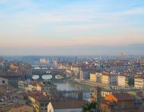 Río de Arno en Florencia, Italia Fotografía de archivo libre de regalías