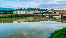 Río de Arno, Florencia Italia Imágenes de archivo libres de regalías