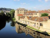 Río de Avon en el baño, Inglaterra Foto de archivo